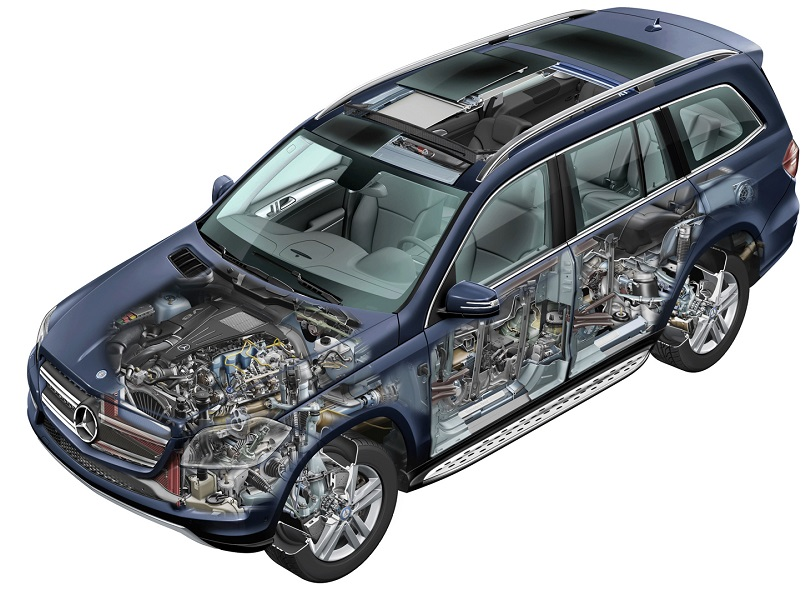 Ремонт двигателей Мерседес GL-класса Х164 и Х166